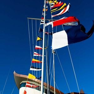 Yacht Club flag pole