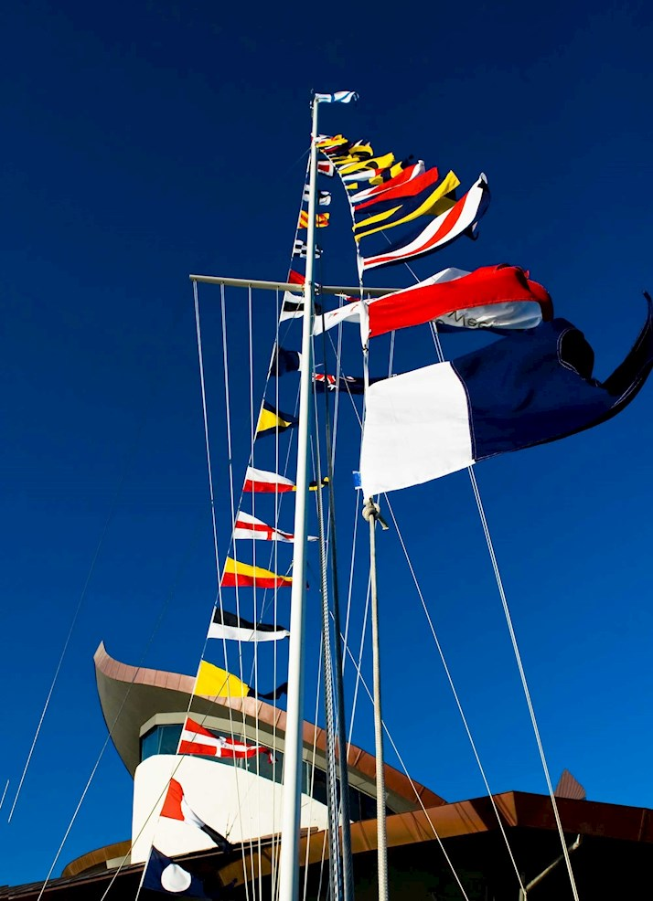 Hamilton Island's Yacht Club flag pole